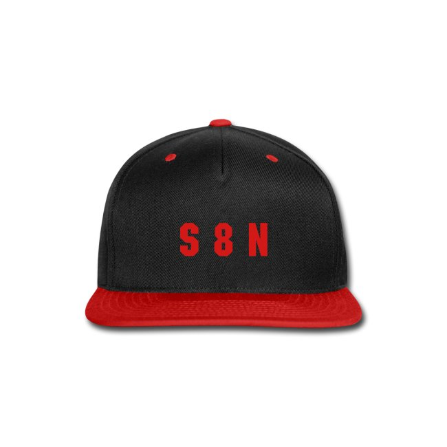 S 8 N cap - red on black