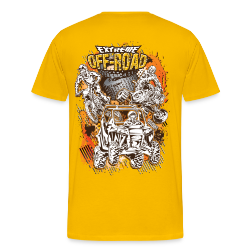 Extreme Off-Road Shirt BACK - Men's Premium T-Shirt