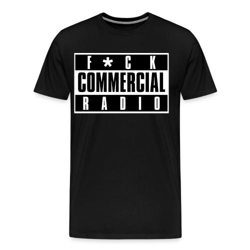 F*ck Commercial Radio Tee - Men's Premium T-Shirt