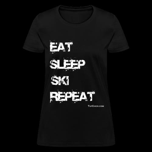 Eat Sleep Ski Repeat - wb - TC - Women's T-Shirt