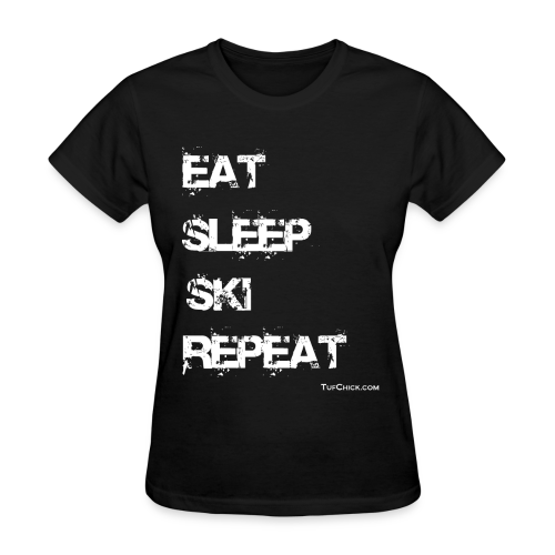Eat Sleep Ski Repeat - wb - TC - Women's T-Shirt