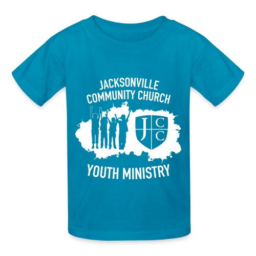 JCC Youth Ministry (White Ink) - Kids' T-Shirt