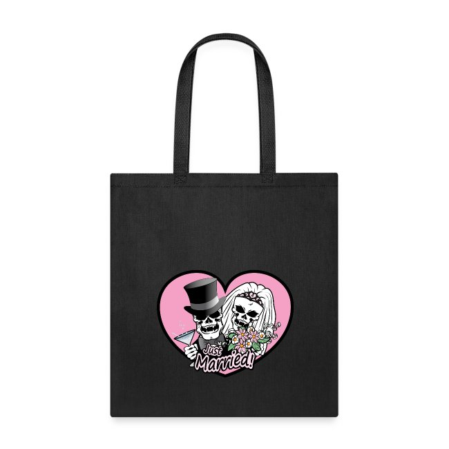 0c30a7912 Clothes Hound Shop | Just Married Skulls - Tote Bag