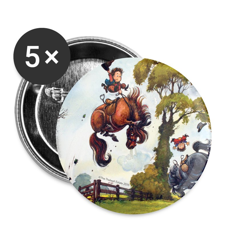 PonyRodeo Thelwell Cartoon - Large Buttons