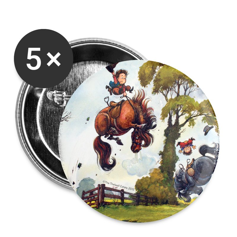 PonyRodeo Thelwell Cartoon - Small Buttons