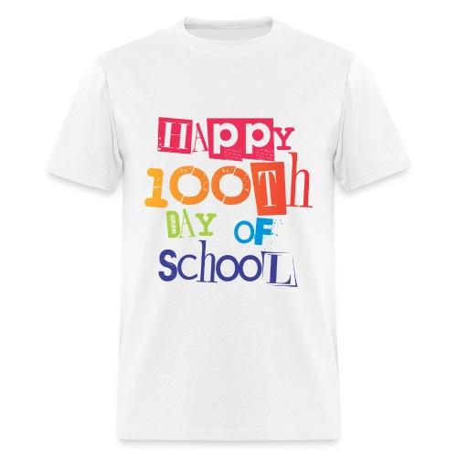 TeachersTshirts Happy 100th Day of School - Men's T-Shirt