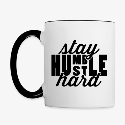 Stay Humble Hustle Hard - Contrast Coffee Mug