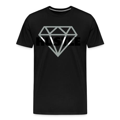 Hustle Diamond Tee - Men's Premium T-Shirt