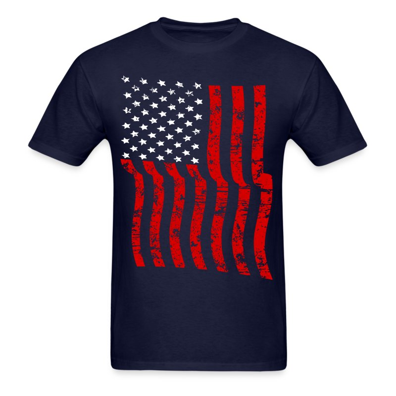 Vintage Waving Usa Flag Patriotic T Shirts Design T Shirt