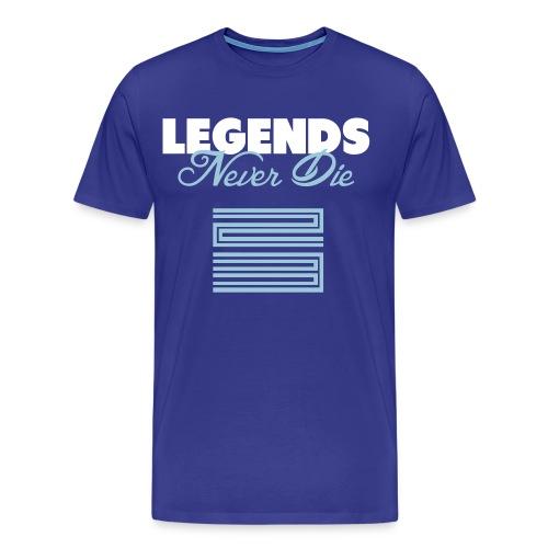 Legends Never Die Blue Men's T-Shirt - Men's Premium T-Shirt