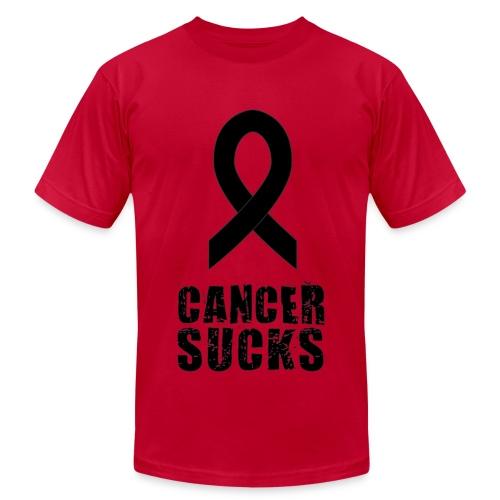Cancer Sucks (black text) - Men's Fine Jersey T-Shirt