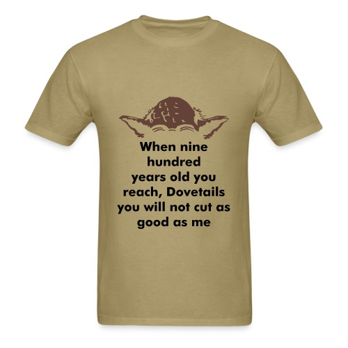 Yoda Woodworking shirt - Men's T-Shirt