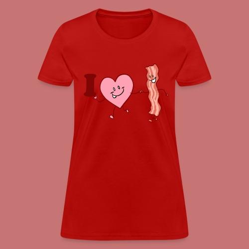I Heart Bacon Women's T-Shirt - Women's T-Shirt