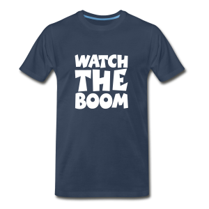 Sailing T-Shirt Watch the Boom (Men Navy/White) - Men's Premium T-Shirt