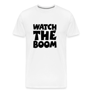 Sailing T-Shirt Watch the Boom (Men White/Black) - Men's Premium T-Shirt