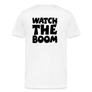 Sailing T-Shirt Watch the Boom (Men White/Black) Back - Men's Premium T-Shirt