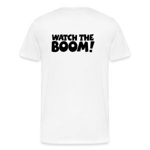 WATCH THE BOOM Sailing T-Shirt (Back) - Men's Premium T-Shirt