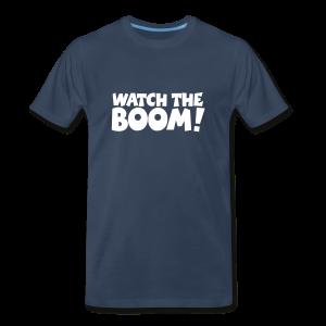 WATCH THE BOOM Sailing T-Shirt (Front) - Men's Premium T-Shirt