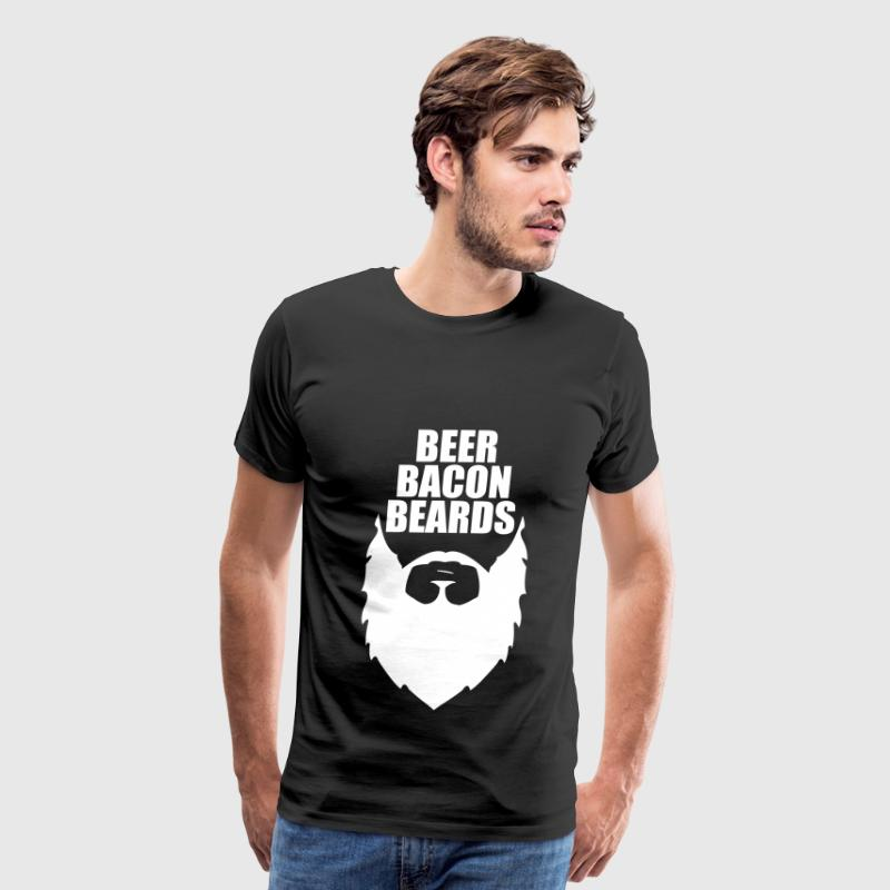 Beer, Bacon & Beards T-Shirts - Men's Premium T-Shirt