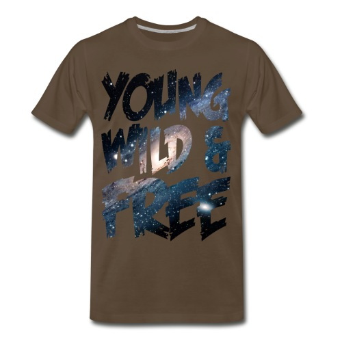 Young Wild And Free (Star design) - Men's Premium T-Shirt