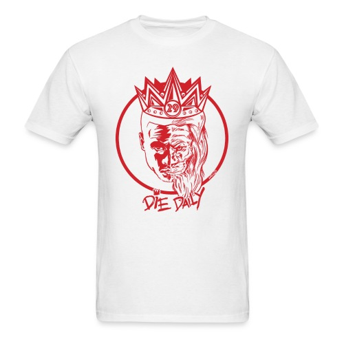 Easy Fit Earlion (White/Red) - Men's T-Shirt