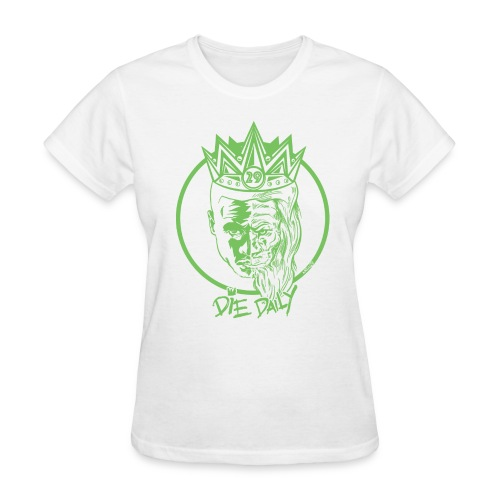 Easy Fit Earlion (White/Green) - Women's T-Shirt