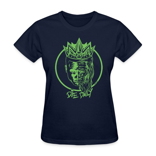 Easy Fit Earlion (Navy/Green) - Women's T-Shirt