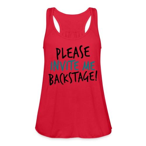 invite me backstage Tank top teal - Women's Flowy Tank Top by Bella