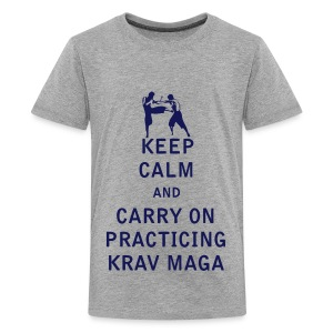 Keep Calm and Carry On Practicing Krav Maga - Kids' Premium T-Shirt