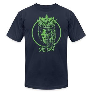 Slim Fit Earlion (Navy/Green) - Men's T-Shirt by American Apparel