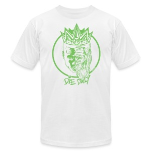 Slim Fit Earlion (White/Green) - Men's T-Shirt by American Apparel