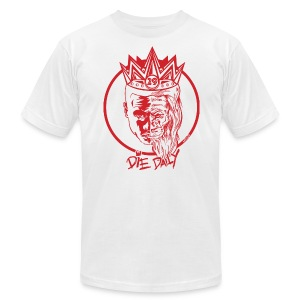 Slim Fit Earlion (White/Red) - Men's T-Shirt by American Apparel