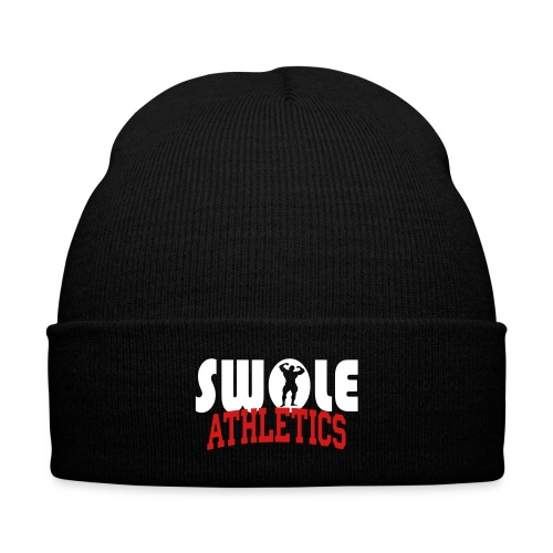 Swole Athletics Beanie - Knit Cap with Cuff Print