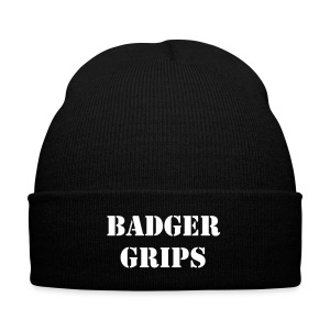 Badger Grips Beanie - Knit Cap with Cuff Print