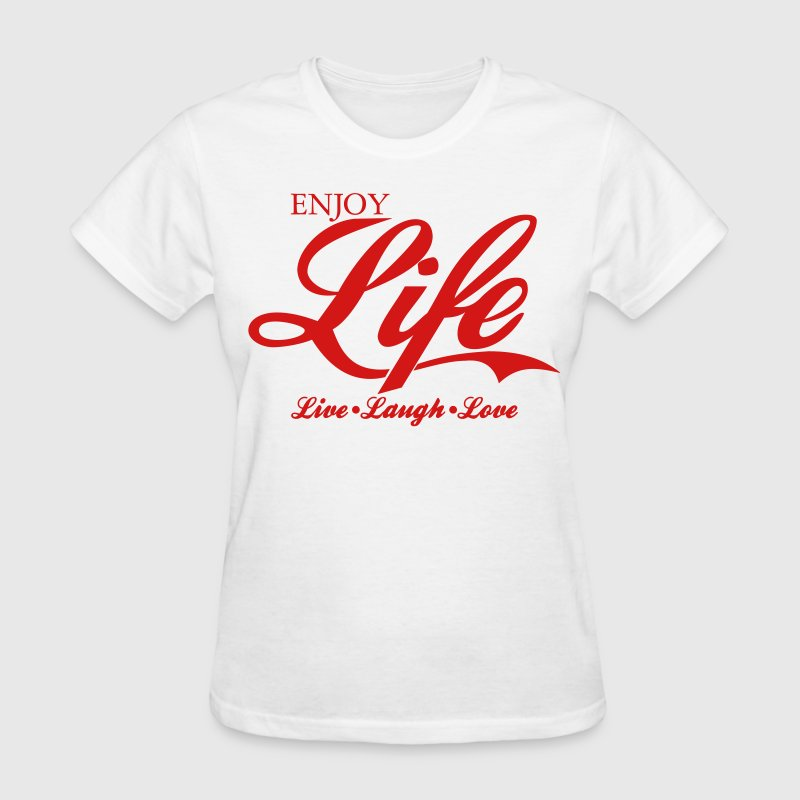 enjoy life live laugh love t shirt design t shirt