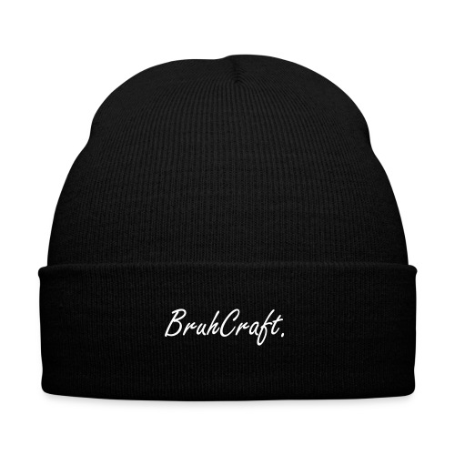 BruhCraft Beanie - Knit Cap with Cuff Print