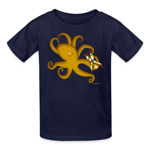 Octopus & Diver - Kids' T-Shirt