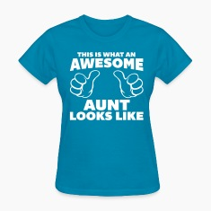 Awesome Aunt Looks Like Women's T-Shirts