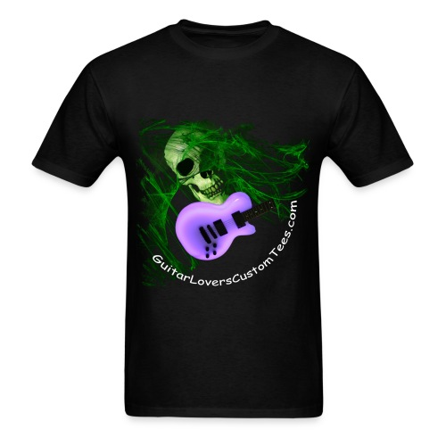 Glow-Guitar-Skull - Men's T-Shirt