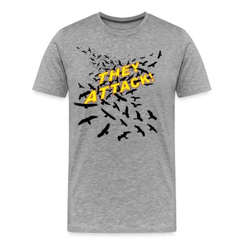 THEY ATTACK! Men's premium T, grey - Men's Premium T-Shirt