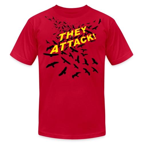 THEY ATTACK! Men's AA shirt, light blue - Men's Fine Jersey T-Shirt