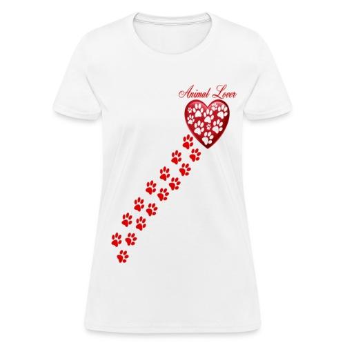 PAW PRINTS ON MY HEART  - Women's T-Shirt