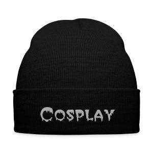 Creepy Font Cosplay Beanie - Knit Cap with Cuff Print