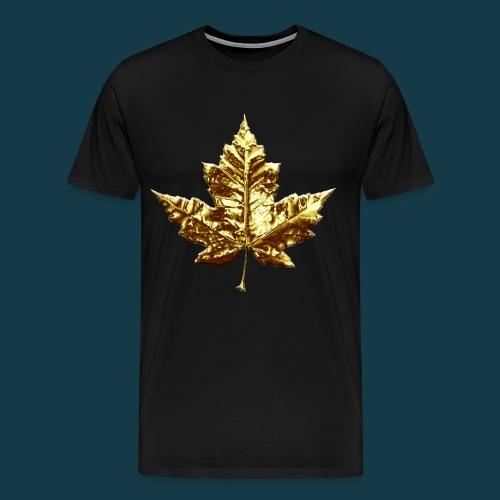 GOLDEN LEAF TEE (GOLD FOAMS)  - Men's Premium T-Shirt