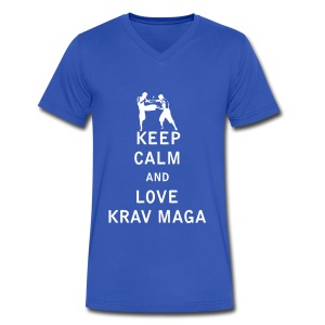Keep Calm and Love  Krav Maga - Men's V-Neck T-Shirt by Canvas