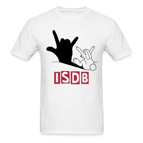 Mens I love you bunny ISDB - Men's T-Shirt