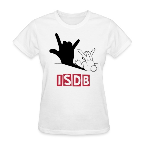 Womens I love you bunny ISDB - Women's T-Shirt