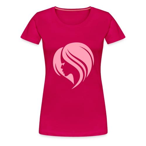 Lady w/ Hair Tee - Women's Premium T-Shirt