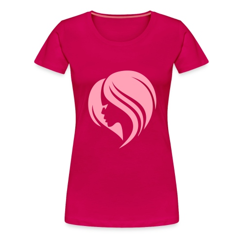 Lady w/ Hair Tee - Women's Premium T-Shirt