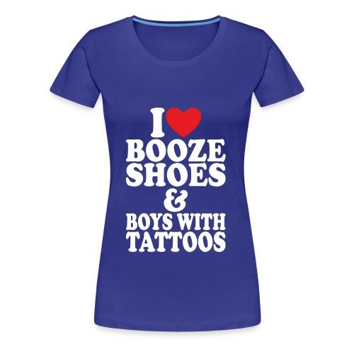 I Love Booze Tee - Women's Premium T-Shirt